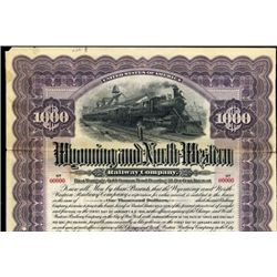 Wyoming and North Western Railway Co. Bond
