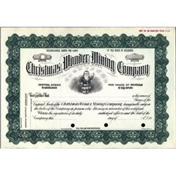Wonder, NV. U.S. Christmas Wonder Mining Company.