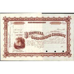 North Carolina. U.S. Crowell Gold Mining Co.
