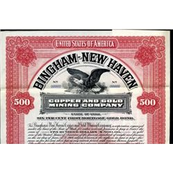 Utah.  Bingham-New Haven Copper and Gold Mining Co