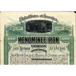 Wisconsin. U.S. Menominee Iron Company.