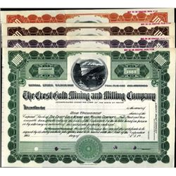 U.S. Crest Gold Mining and Milling Co. Quartet.