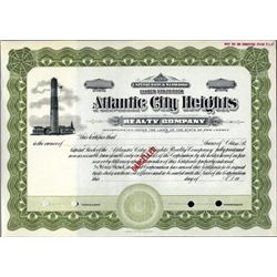 NJ. U.S. Atlantic City Heights Realty Co.
