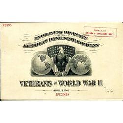World War Two Commemorative  Vignette Booklet