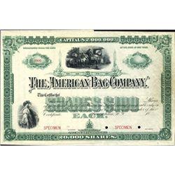"""New York.  The American Bag Co. """"Reaper Vignette"""""""