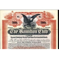 New York. U.S. The Hamilton Club.
