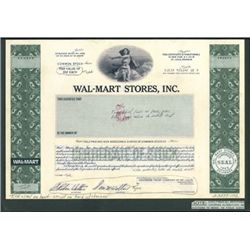 Wal-Mart Stores, Inc. Unique Approval Stock Cert.