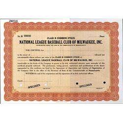 Milwaukee, WI. U.S. National League Baseball Club