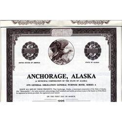 Alaska. U.S. Anchorage, Alaska Bond.