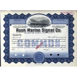 New York. U.S. Rush Marine Signal Company.