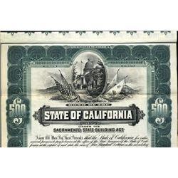 California. U.S. State of California Bond.