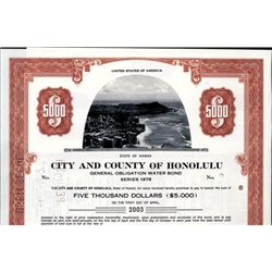Hawaii. U.S. Hawaii City and State Bonds.