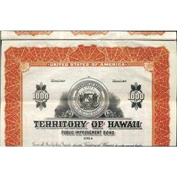 Hawaii. U.S. Territory of Hawaii Bond.