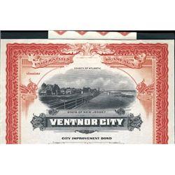 "NJ.  Ventnor City ""City Improvement Bond"""