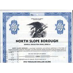 Alaska. U.S. North Slope Borough Bonds