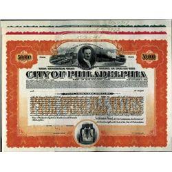 U.S. City of Philadelphia Bond Assortment (9)