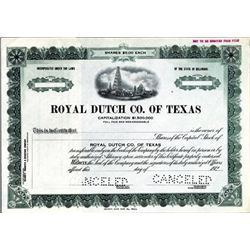 Texas. U.S. Royal Dutch Company of Texas.