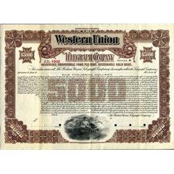 New York. U.S. Western Union Telegraph Co.