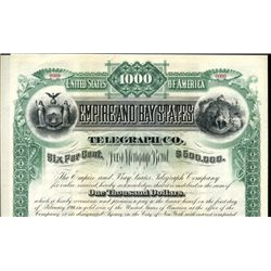 Empire and Bay States Telegraph Co. Bond