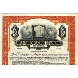 Radio Corporation of America Bond - Gold Bond
