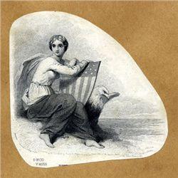 Allegorical Patriotic Female Vignettes (15)
