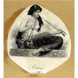Large Artistic Vignettes of Allegorical Women (4)
