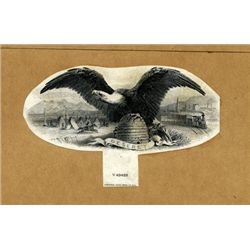 Utah. U.S. Eagle Proof Vignette with Bee Hive.