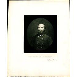 U.S. Stonewall Jackson Print - Portrait Engraving