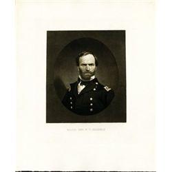 Maj. Gen. W.T. Sherman Print - Portrait Engraving