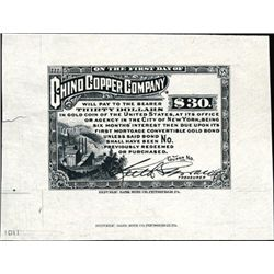 NM. Chino Copper Co. Proof Bond Coupon