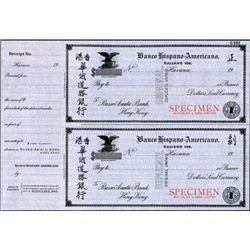 Havana. Cuba Banco Hispano-Americano Draft Pair.