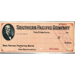San Francisco, CA. Southern Pacific Co. Check