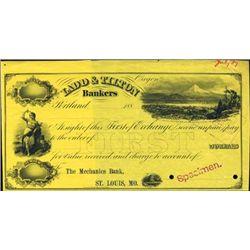OR.  Ladd & Tilton Bankers Specimen Check