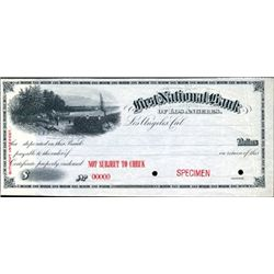 CA. U.S. First National Bank of Los Angeles Check