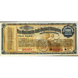 NY.   Safe Deposit Co. Silver Bullion Certificate