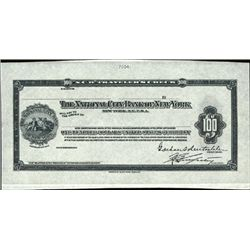National City Bank of NY Proof  Traveler's Checks