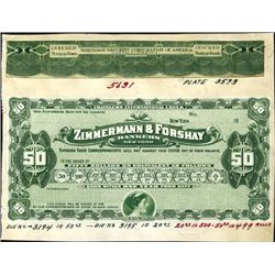 Zimmermann & Forshay Bankers Traveler's Checks