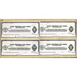 1st National City Bank Proof Traveler's Checks