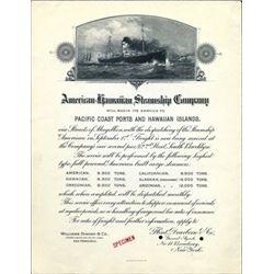 Hawaii. U.S. American Hawaiian Steamship Co.