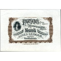 Parsons Paper Co Banknote Advertising Item