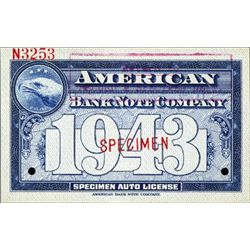 American BNC Specimen Auto Licenses and ID Cards