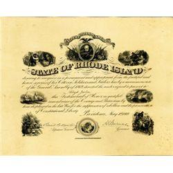 State of Rhode Island Civil War Recognition Cert