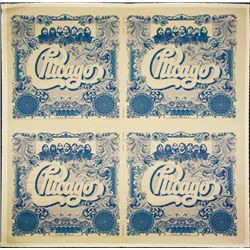 """Chicago"" Uncut Sheet of 4 Proof Record Labels"