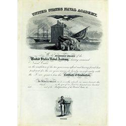 U.S. Naval Academy Graduation Certificate Proof