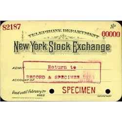 U.S. New York Stock Exchange Telephone Department