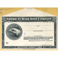 American Bank Note and Miscellaneous ID Cards