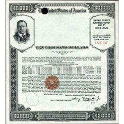 U.S.  $10,000 Savings bond - Series F