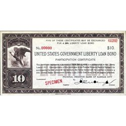 U.S. Government Liberty Loan $10 Certificate