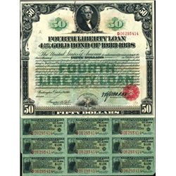 Fourth Liberty Loan, 4 1/4% Gold Bond of 1933-38