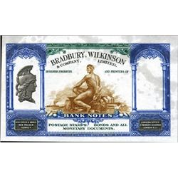 Bradbury, Wilkinson & Co., Ltd. Ad Note